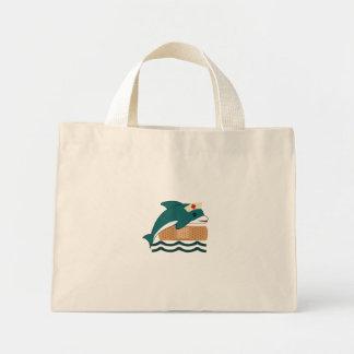 Enfermera del delfín bolsa de tela pequeña