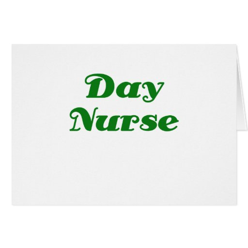 Enfermera del día tarjeta