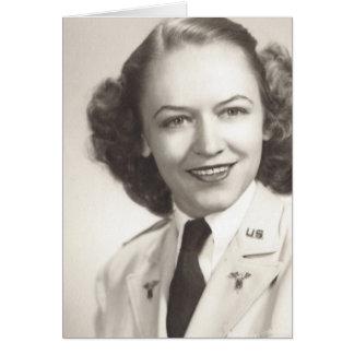 Enfermera del ejército - WWII Tarjeta De Felicitación