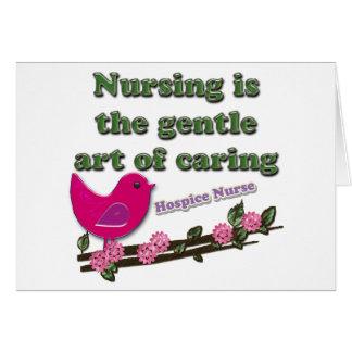 Enfermera del hospicio tarjetas
