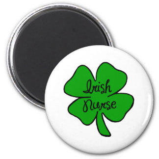 Enfermera del irlandés imán redondo 5 cm