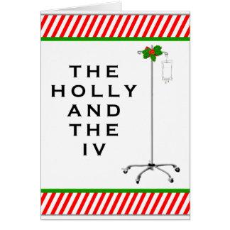 Enfermera del navidad tarjeta de felicitación