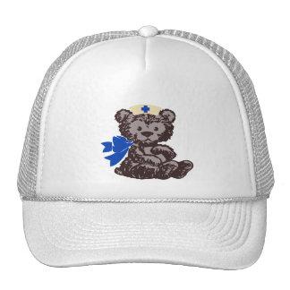 Enfermera del oso de peluche (azul) gorra