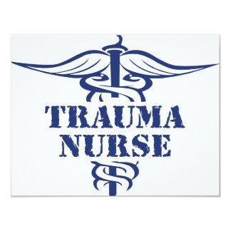 enfermera del trauma invitación 10,8 x 13,9 cm