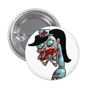 Enfermera del vampiro chapa redonda de 2,5 cm