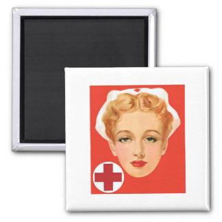 Enfermera del vintage imanes de nevera
