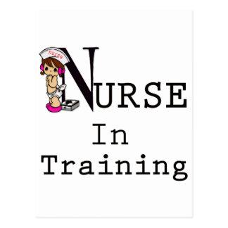 Enfermera en el entrenamiento tarjeta postal