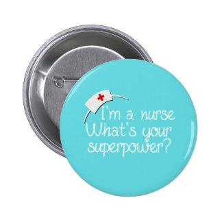 Enfermera estupenda linda chapa redonda de 5 cm