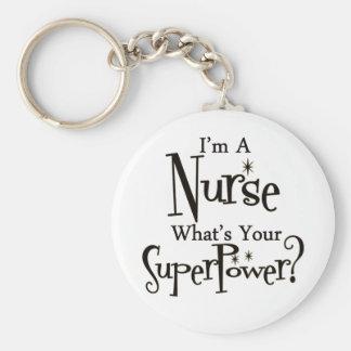 Enfermera estupenda llavero redondo tipo chapa