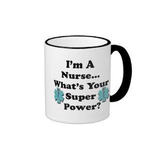 Enfermera estupenda taza de dos colores