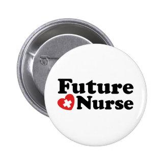 Enfermera futura chapa redonda de 5 cm