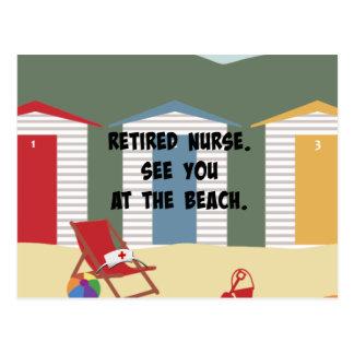 Enfermera jubilada. Véale en la playa Postal