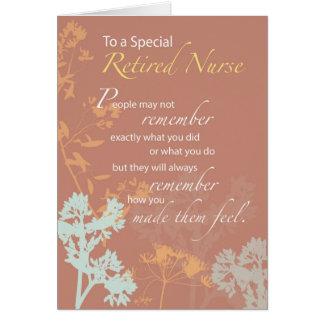 Enfermera jubilada, Wildflowers del día de las Tarjeta