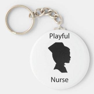 enfermera juguetona llaveros personalizados