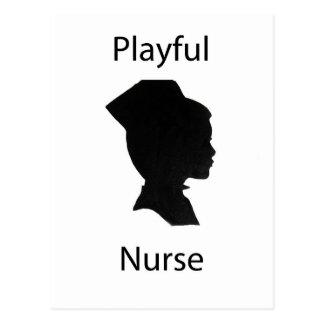enfermera juguetona postal