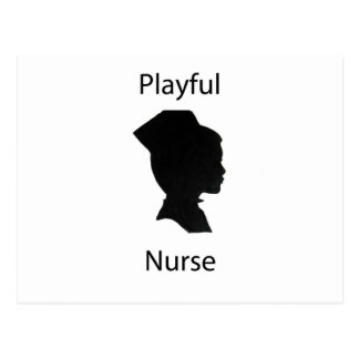 enfermera juguetona tarjetas postales