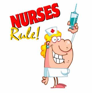 enfermera linda del dibujo animado de la regla de  esculturas fotograficas
