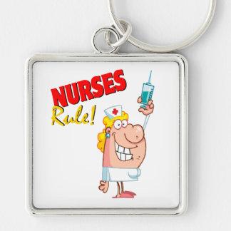 enfermera linda del dibujo animado de la regla de llavero personalizado