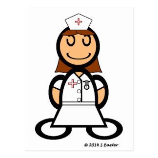 Enfermera (llana) postal