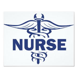 enfermera malvada invitación 10,8 x 13,9 cm