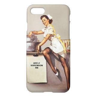 Enfermera modela de la guerra mundial del vintage funda para iPhone 7