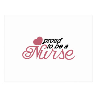 Enfermera orgullosa postal