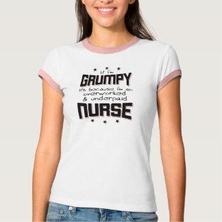ENFERMERA pagada mal con exceso de trabajo GRUÑONA Camiseta