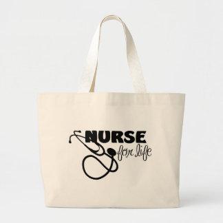 Enfermera para la vida bolsa tela grande