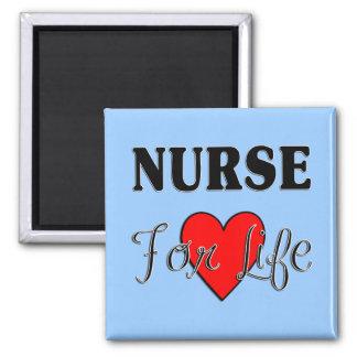 Enfermera para la vida imán cuadrado