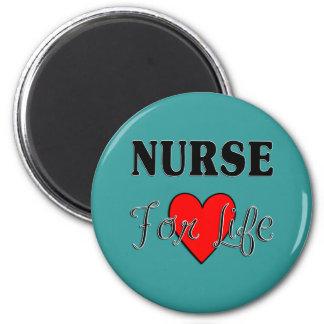 Enfermera para la vida imán redondo 5 cm