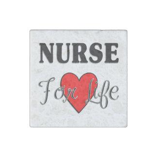 Enfermera para la vida imán de piedra