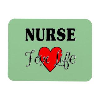 Enfermera para la vida imanes rectangulares
