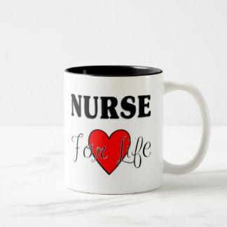 Enfermera para la vida taza