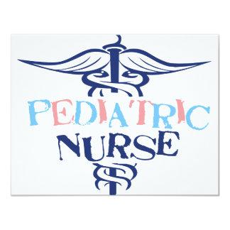 Enfermera pediátrica invitación 10,8 x 13,9 cm