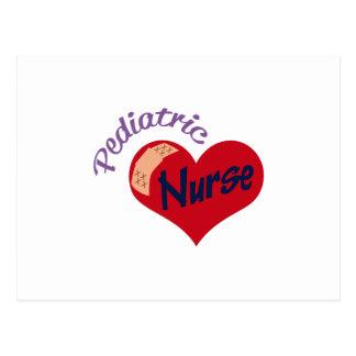 Enfermera pediátrica postal