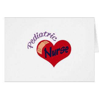 Enfermera pediátrica tarjeta de felicitación