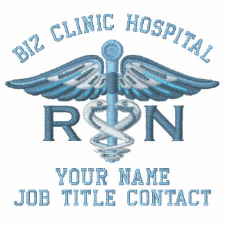 Enfermera personalizada RN su caduceo médico del Chaqueta De Deporte Bordada