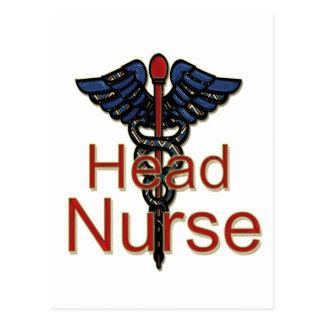 Enfermera principal postales