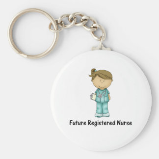 enfermera registradoa del futuro llavero redondo tipo chapa