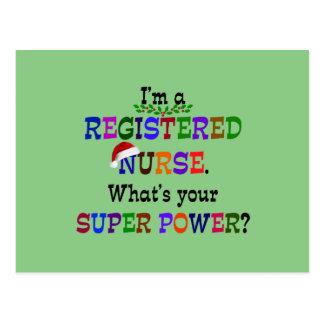 Enfermera registradoa, navidad postal