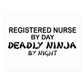 Enfermera registradoa Ninja mortal Postal