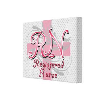 Enfermera registradoa, remolinos rosados de la cru lona envuelta para galerías