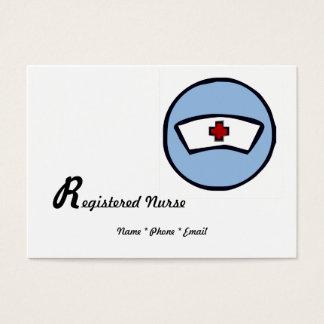 Enfermera registradoa tarjeta de visita