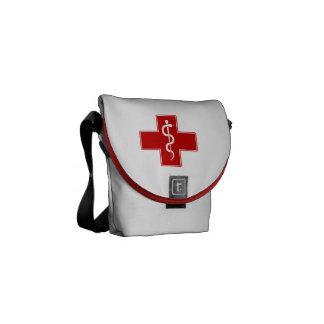 Enfermera Rod de Asclepius Bolsas De Mensajería