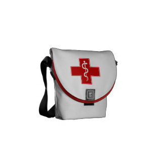 Enfermera Rod de Asclepius Bolsas Messenger