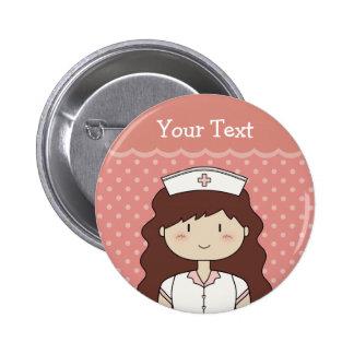Enfermera triguena chapa redonda de 5 cm