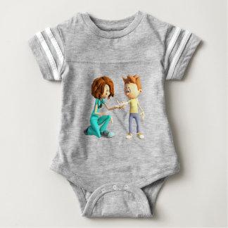Enfermera y Little Boy del dibujo animado Body Para Bebé