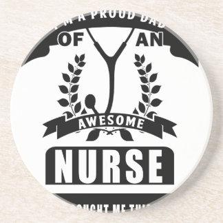 enfermera y papá posavasos de arenisca