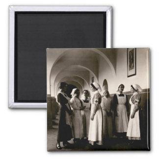 Enfermeras del alemán de WWI Imán Cuadrado