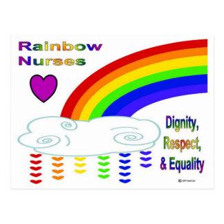 Enfermeras del arco iris tarjeta postal